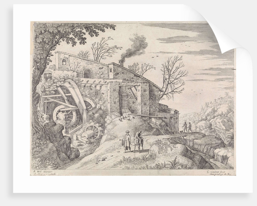 Landscape with water mill and the Good Samaritan by Antoine Bonenfant