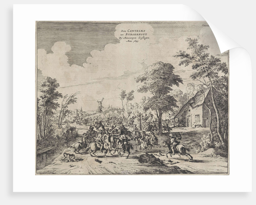 Spaniards under Don Cantelmo at Borgerhout reports, 1643, Belgium by Anonymous