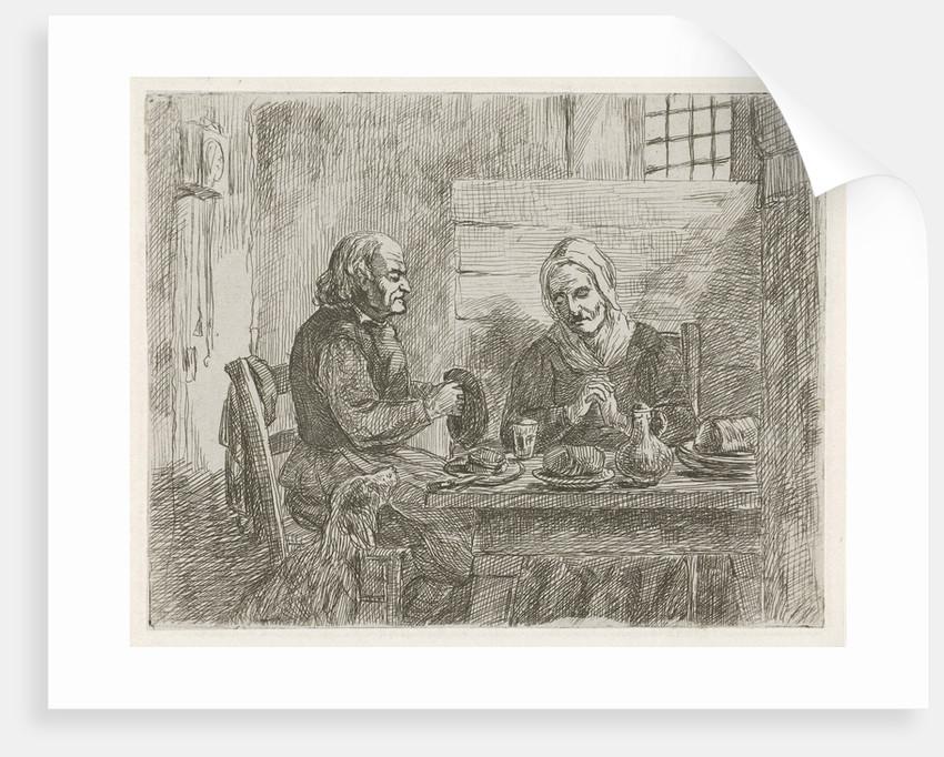 Prayer before the meal by David van der Kellen II