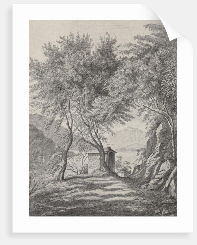 View of Lake Como by Karoly Lajos Libay