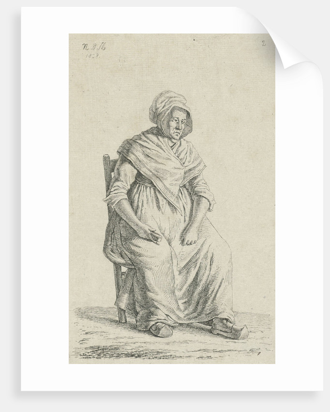Sitting farmer from Wallonia by Anthonie Willem Hendrik Nolthenius de Man
