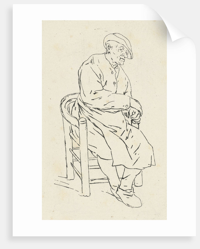 Seated man in an armchair by Anthonie Willem Hendrik Nolthenius de Man