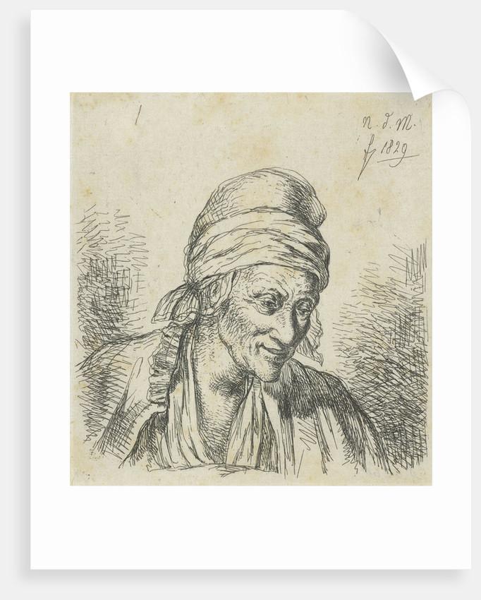 Old woman right by Anthonie Willem Hendrik Nolthenius de Man