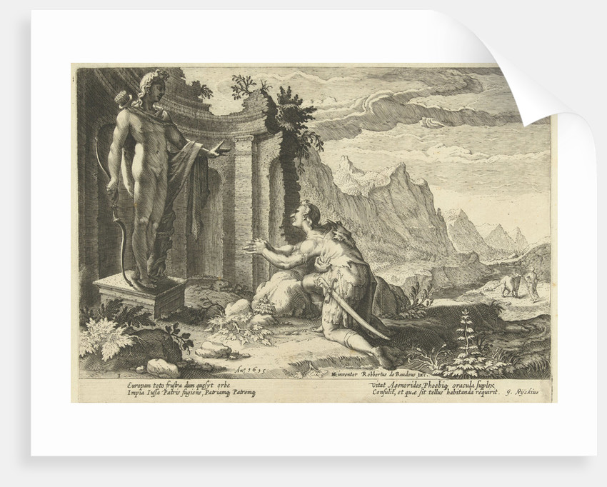 Cadmus asked the Delphic oracle what he has to do by Robert de Baudous