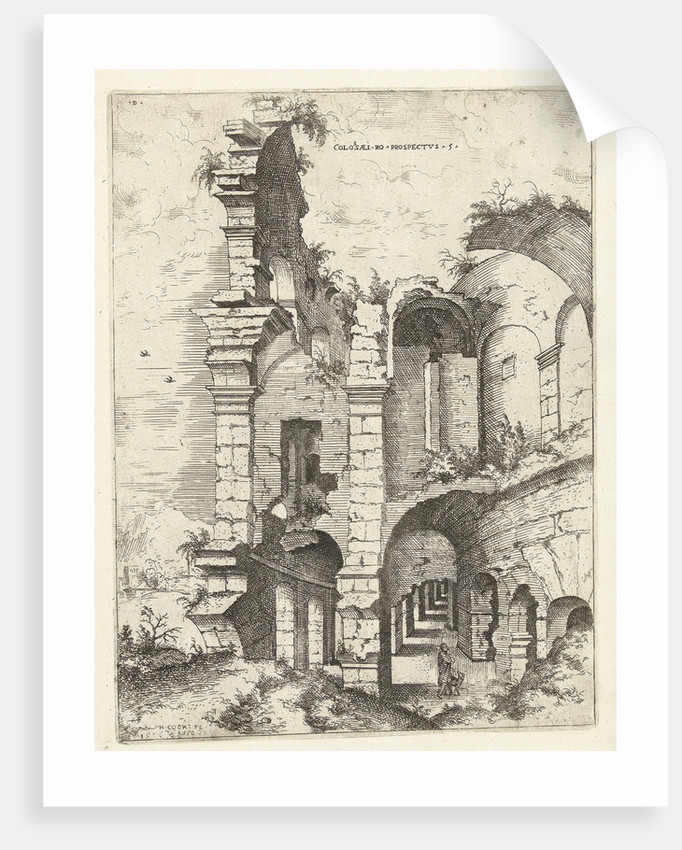 Fifth sight of the Colosseum in Rome, Italy by Hieronymus Cock