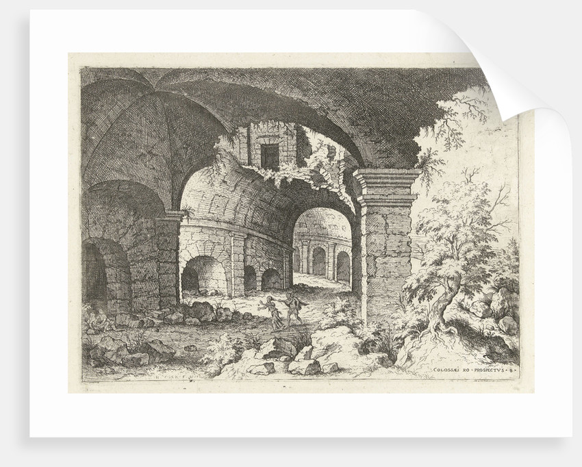 Eighth sight of the Colosseum in Rome, Italy by Hieronymus Cock