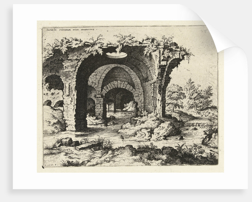 View of ruins in Rome, Italy by Hieronymus Cock