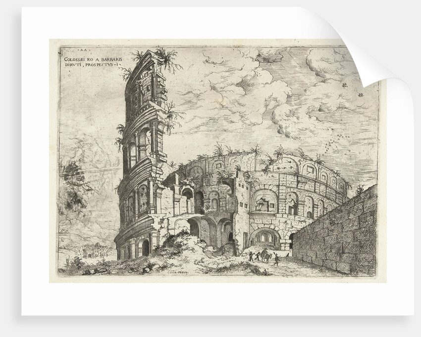 First sight of the Colosseum in Rome, Italy by Hieronymus Cock
