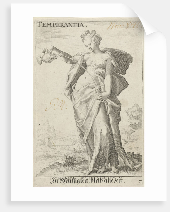 Temperance (Temperance) by Hendrick Goltzius