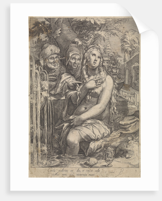 Susanna and the Elders by Hendrick Goltzius