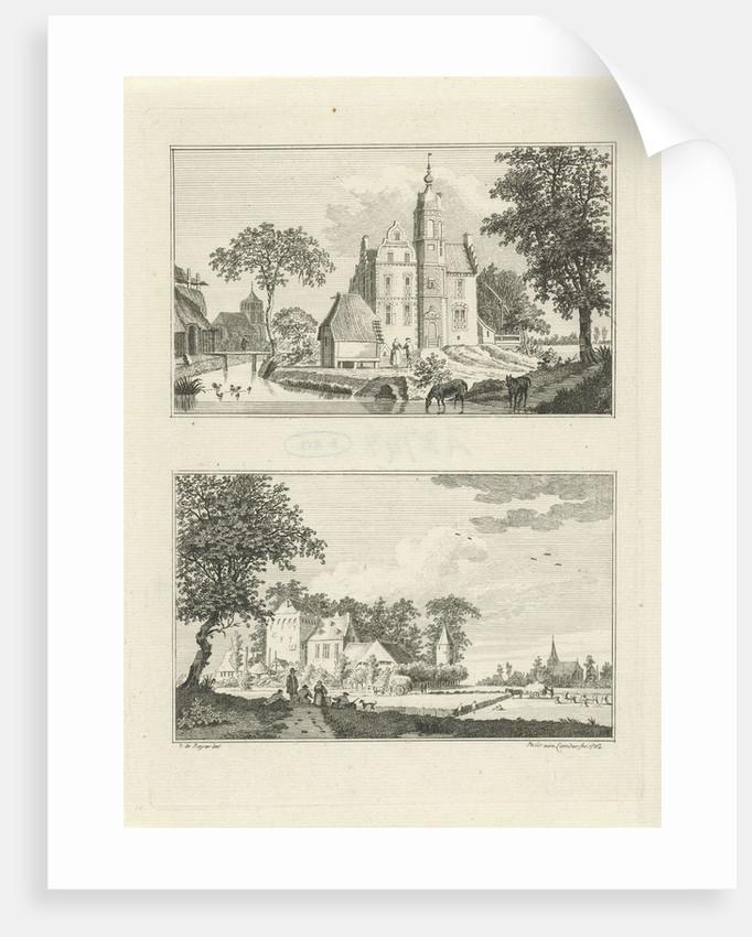 Castle Poelwijk in Oud Zevenaar and House Rijswijk in Groessen by Paulus van Liender