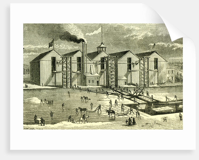 Ice Industry U.S.A. 1881 Winter View Vertical Ice Screw Elevator Practical Operation by Anonymous