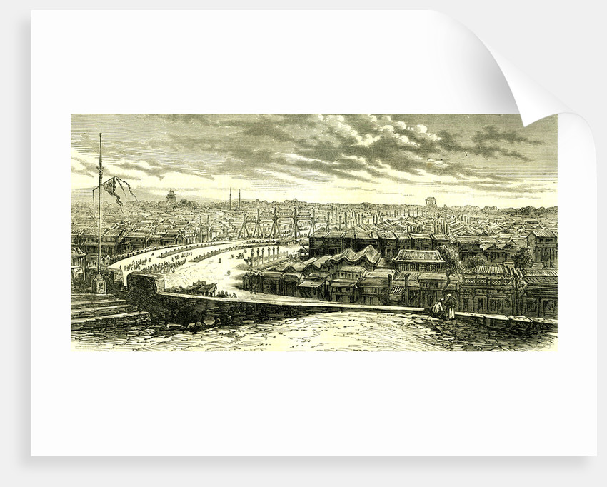 Beijing Peking the Great Street 1866 Chinese Imperial City China by Anonymous