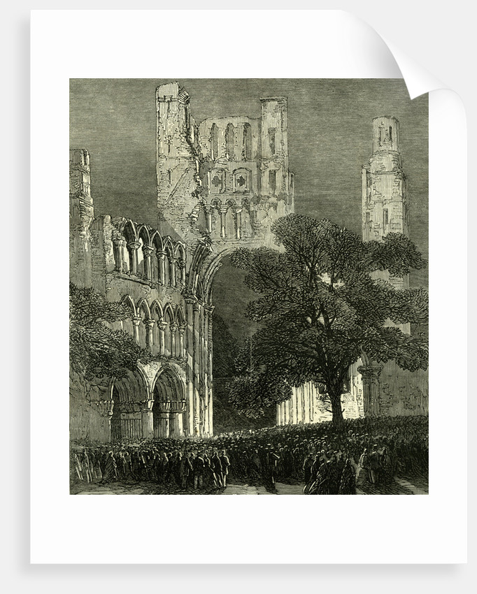 Kelso UK 1867 Kelso Abbey Illuminated by the Lime-Light. During the Queen's Visit to the Scottish Border. Great Britain by Anonymous