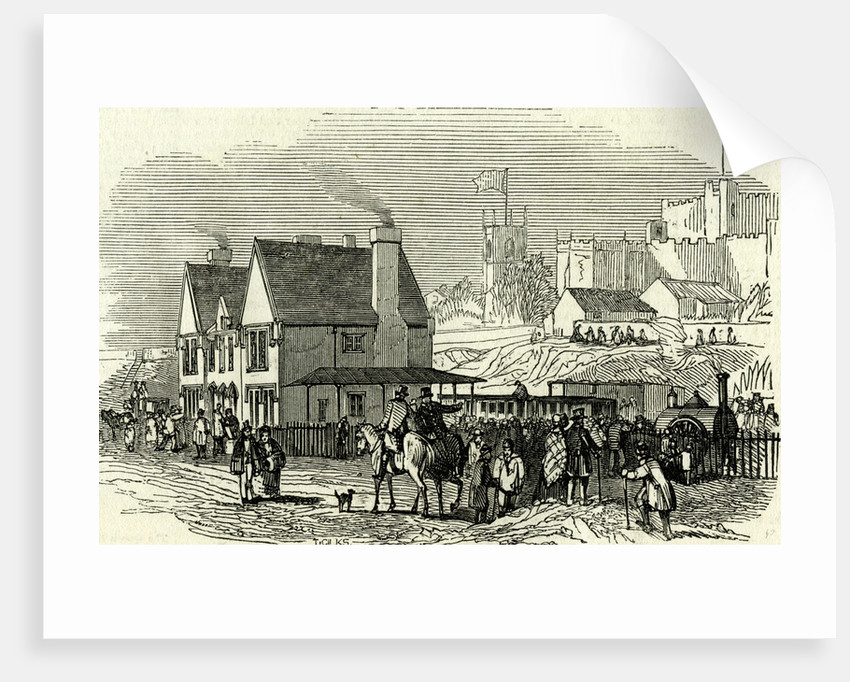 Lancaster Station UK 1846 Opening of the Lancaster and Carlisle Railway by Anonymous