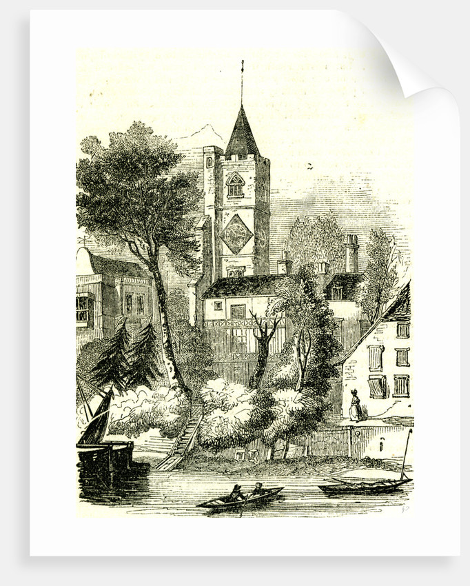 Fulham London UK 19th Century All Saints Church by Anonymous