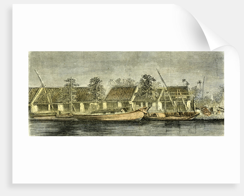 Chinese Part of Saigon Vietnam 19th Century by Anonymous