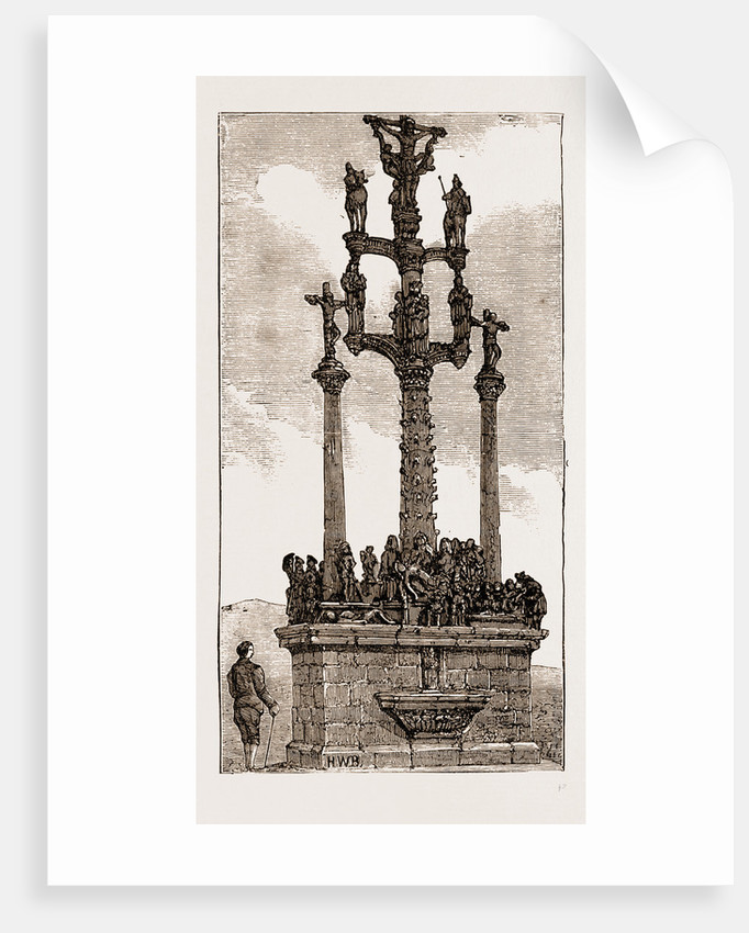 Calvary At St. Thegonnec, Brittany by Anonymous