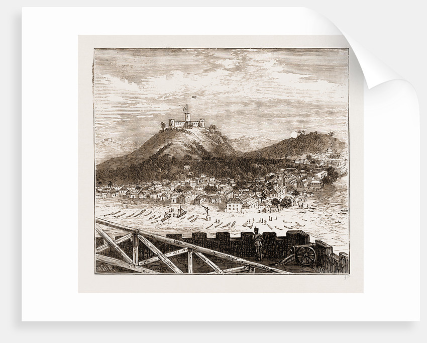 General View Of Elmina Recently Bombarded By The British Troops, The Ashantee War 1873. Anglo-ashanti Wars Between The Ashanti Empire by Anonymous