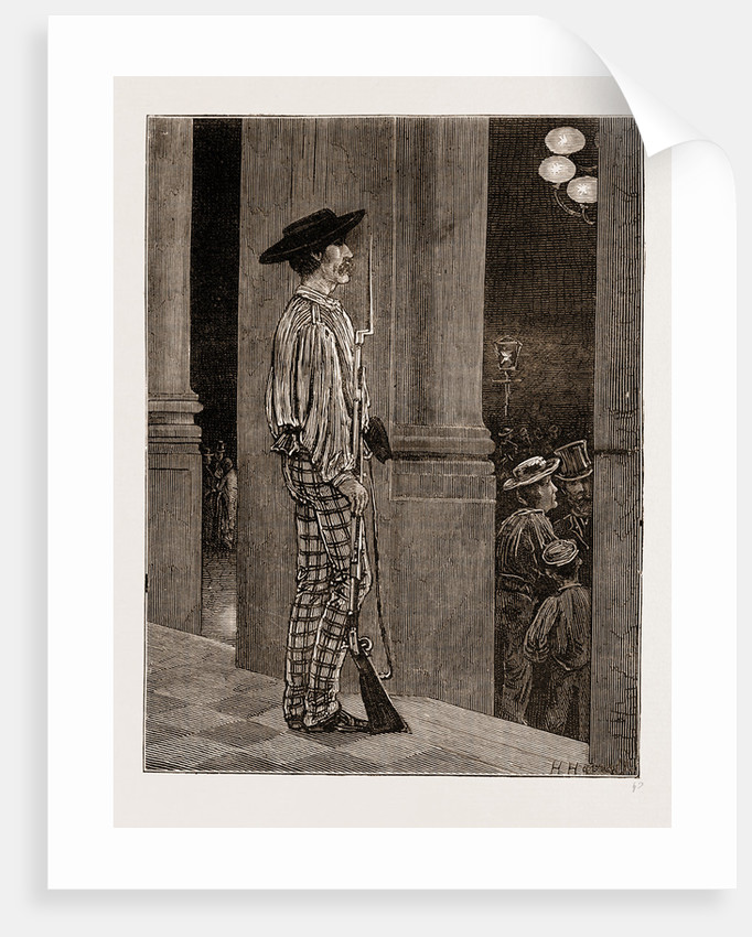 A National Guard Sentry Before The Hotel De Ville, Seville by Anonymous