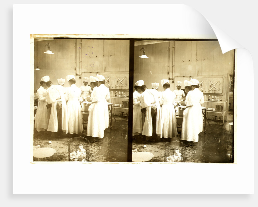Japanese nurses and doctor during surgery by Anonymous