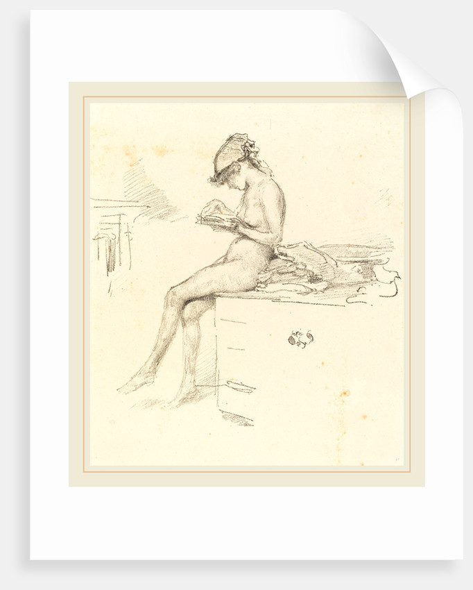 The Little Nude Model Reading, 1890 by James McNeill Whistler