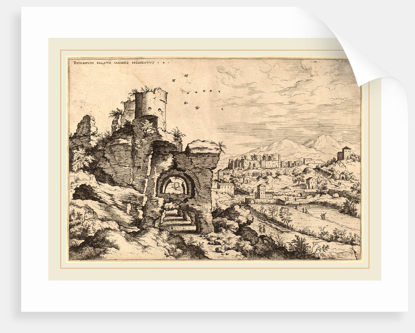 Ruins on the Palatine, Looking toward the Baths of Caracalla, probably 1550 by Hieronymus Cock