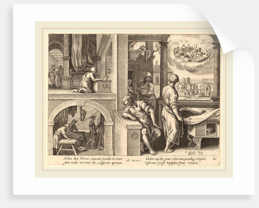 The Vision of Saint Peter by Philip Galle