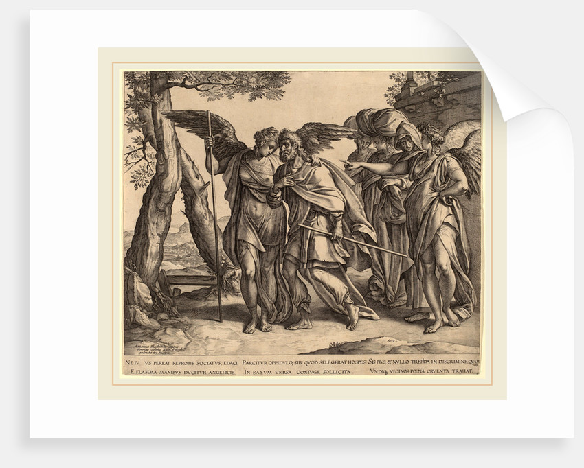 Lot and His Daughters Leaving Sodom, 1582 by Hendrik Goltzius