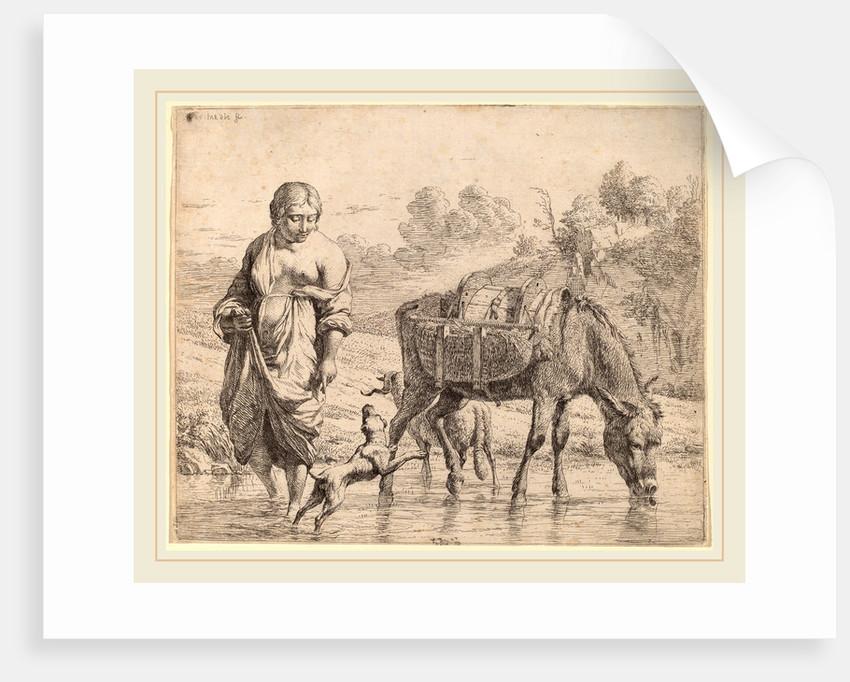 Woman Crossing a Stream, 1662 by Karel Dujardin