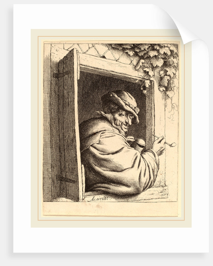 Smoker at a Window, probably 1667 by Adriaen van Ostade