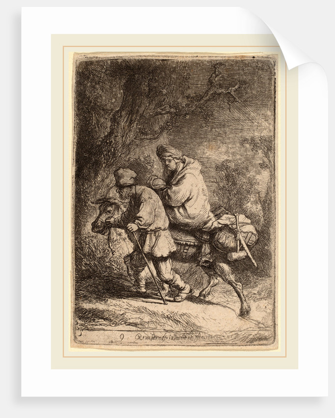 The Flight into Egypt: Small, 1633 by Rembrandt van Rijn