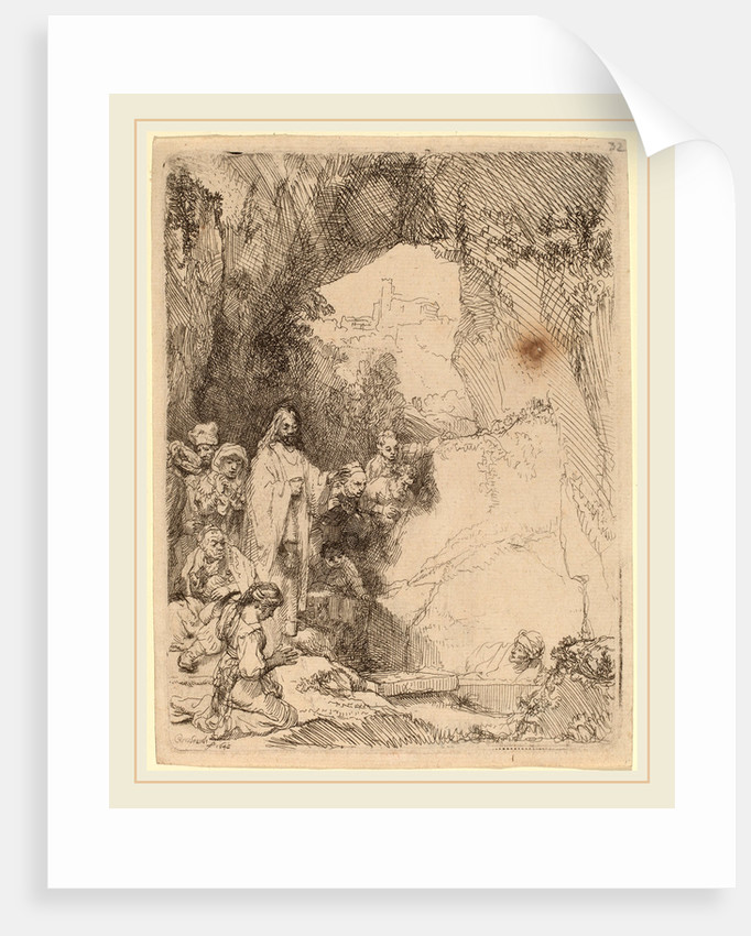 The Raising of Lazarus: Small Plate, 1642 by Rembrandt van Rijn