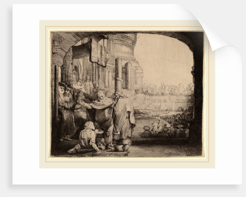 Peter and John Healing the Cripple at the Gate of the Temple, 1659 by Rembrandt van Rijn