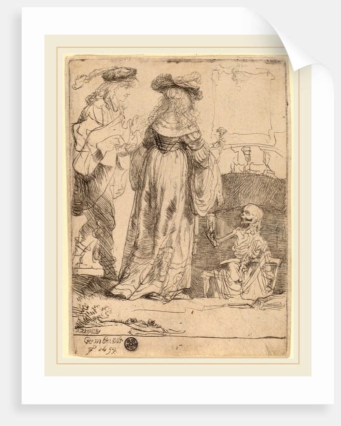 Death Appearing to a Wedded Couple from an Open Grave, 1639 by Rembrandt van Rijn