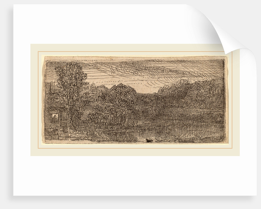 Small Gray Landscape: a House and Trees beside a Pool, c. 1640 by Rembrandt van Rijn