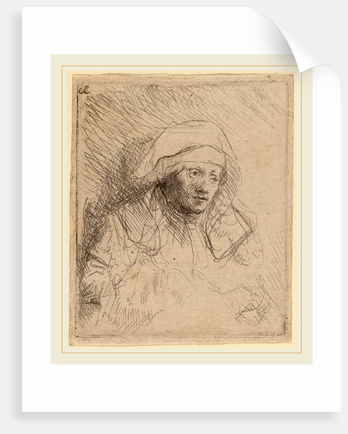 Sick Woman with a Large White Headdress by Rembrandt van Rijn