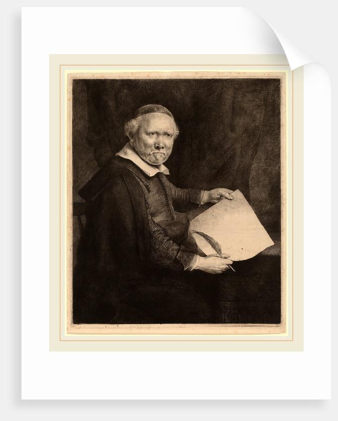 Lieven Willemsz van Coppenol: the Larger Plate, 1658 by Rembrandt van Rijn
