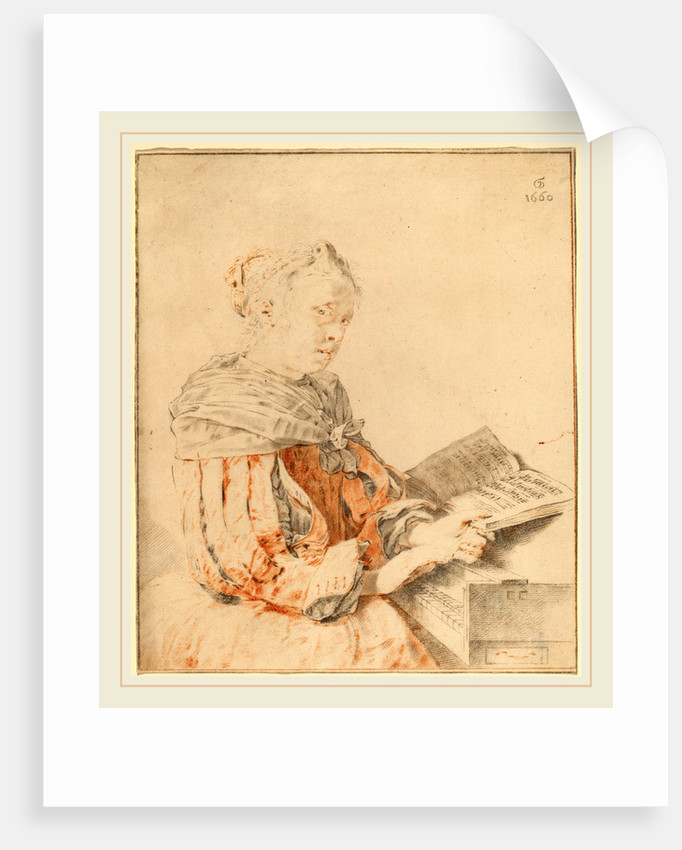 Young Girl at the Keyboard, 1767 by Cornelis Ploos van Amstel and Johannes Kornlein