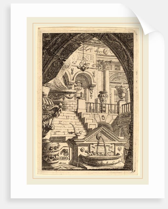 Fantasy of an Antique Temple by Carl Schütz
