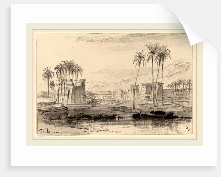 Thebes by Edward Lear
