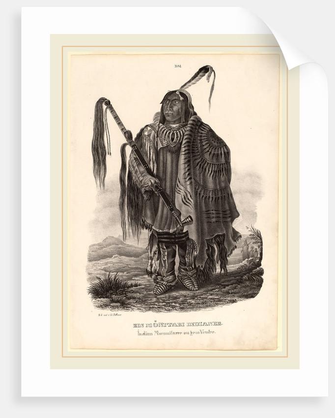 Ein Monitari Indianer by Karl Bodmer