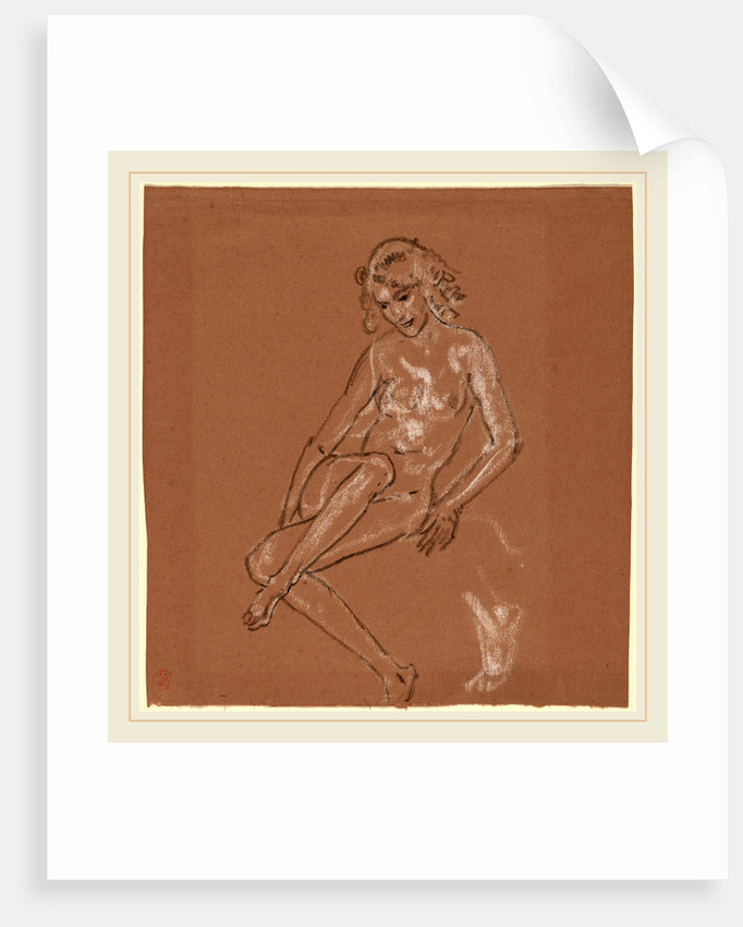 Seated Nude and a Foot by Arthur B. Davies