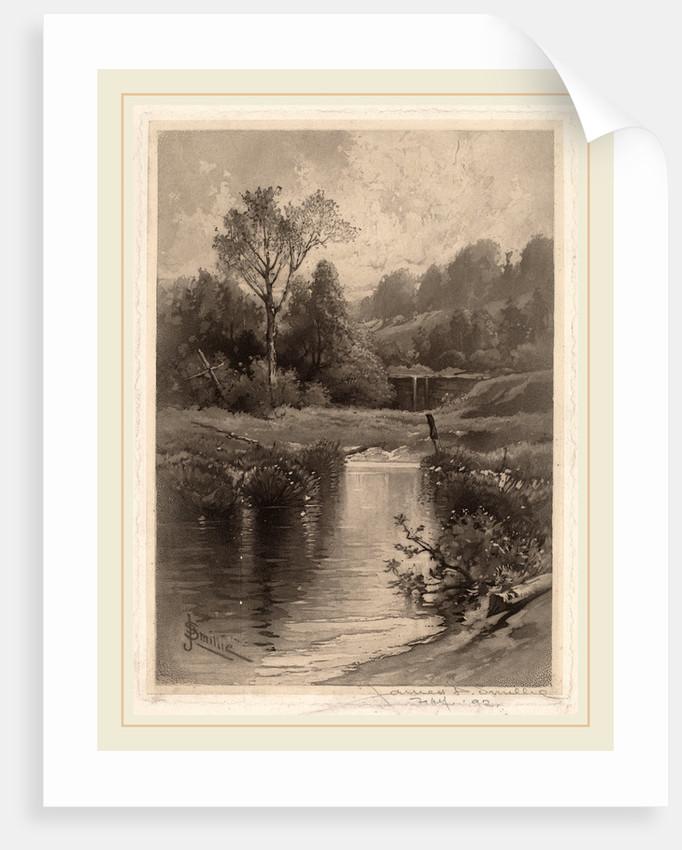 Old Dam Near Montrose by James David Smillie