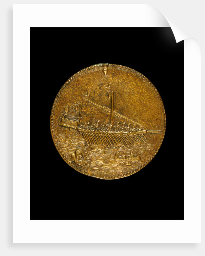 Galley and Small Boat reverse by Leone Leoni