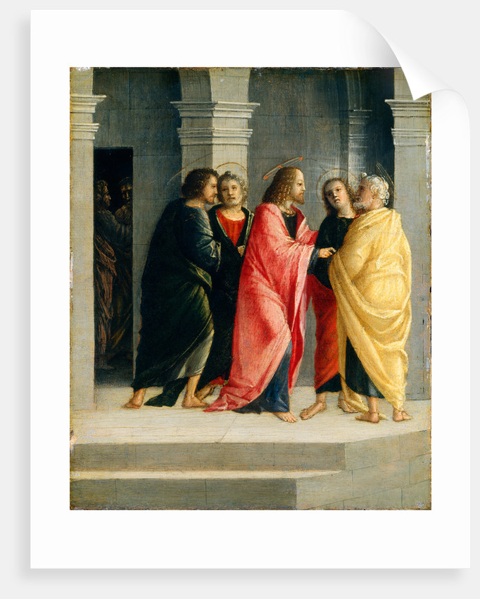 Christ Instructing Peter and John to Prepare for the Passover by Vincenzo Civerchio