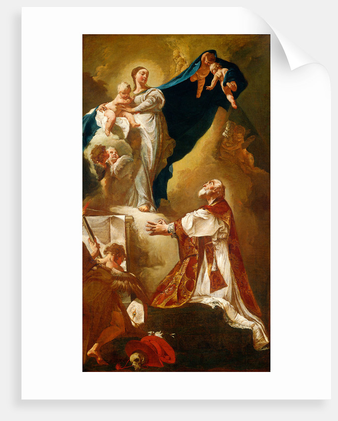 Madonna and Child Appearing to Saint Philip Neri, probably 1725 or after by Giovanni Battista Piazzetta