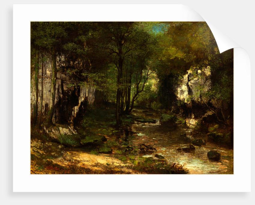 The Stream(vallée de la Loue), 1855 by Gustave Courbet