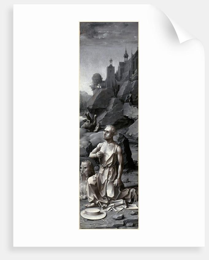 Saint Jerome Penitent right panel by Jan Gossaert