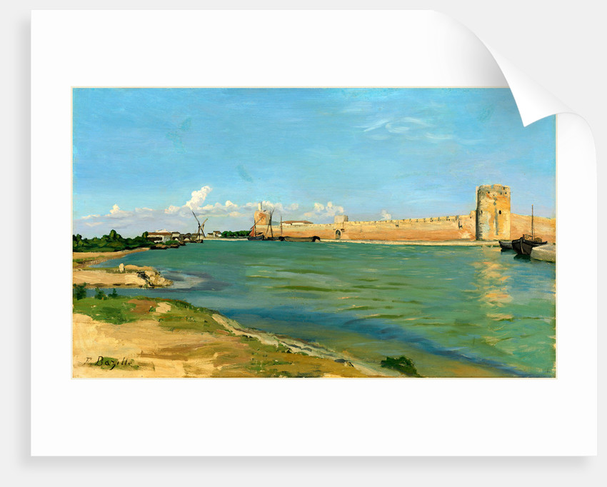 The Ramparts at Aigues-Mortes, 1867 by Frédéric Bazille
